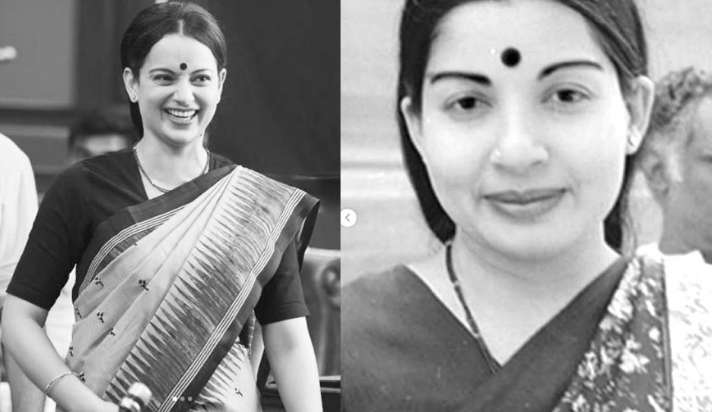 जयललिता के लुक में छाईं कंगना, 'थलाइवी' के सेट से एक्ट्रेस ने शेयर की लेटेस्ट तस्वीरें