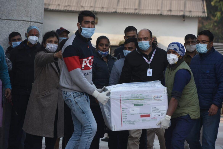 दिल्ली : राजीव गांधी अस्पताल में पहुंची 2.64 लाख कोविड वैक्सीन की खुराक
