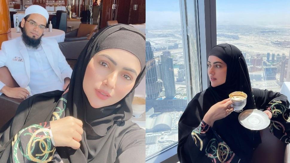पति के साथ दुबई में फुल मजे कर रही हैं सना खान, मौलाना अनस ने दिया सरप्राइज