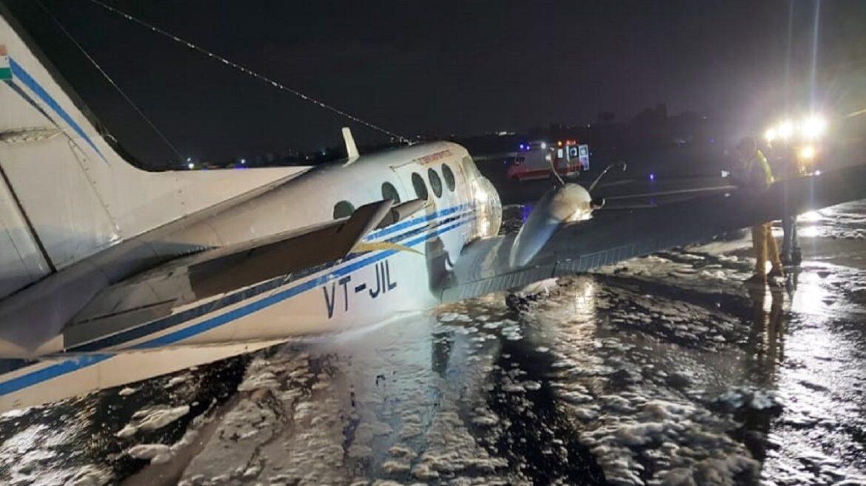 ग्वालियर में रेमडेसीविर इंजेक्शन लेकर आया विमान रनवे पर दुर्घटनाग्रस्त