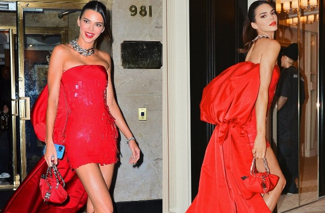 रेड ड्रेस में केंडल जेनर ने मचाया तहलका, कातिलाना अदाएं देख फैंस ने भरी आहें